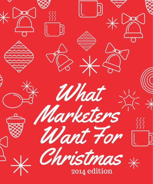 What marketers want (1)