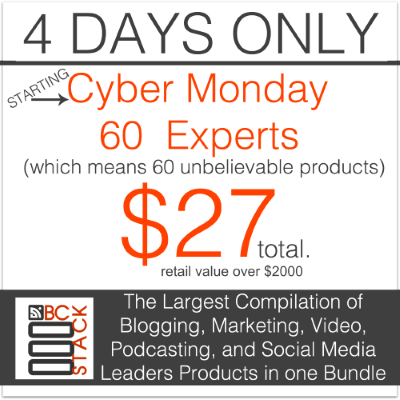 Blogging Concentrated CyberMonday deal