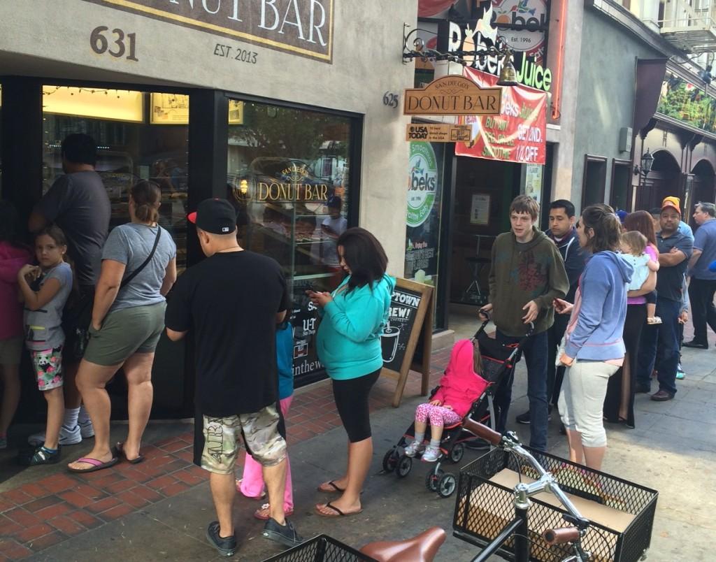 Line at Donut Bar