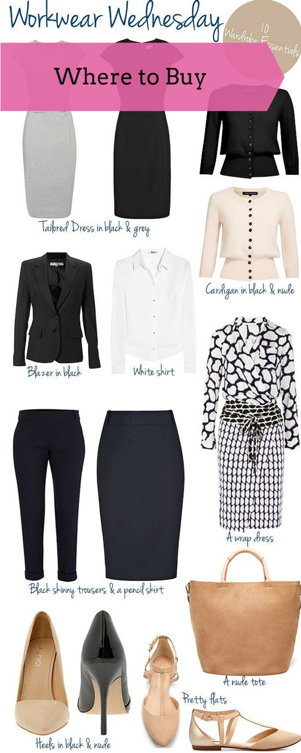 work wardrobe where to buy
