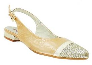 women's slingback beige shoe