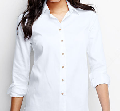 white buttoned down dress shirt
