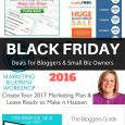 2016 Black Friday Deals for Bloggers