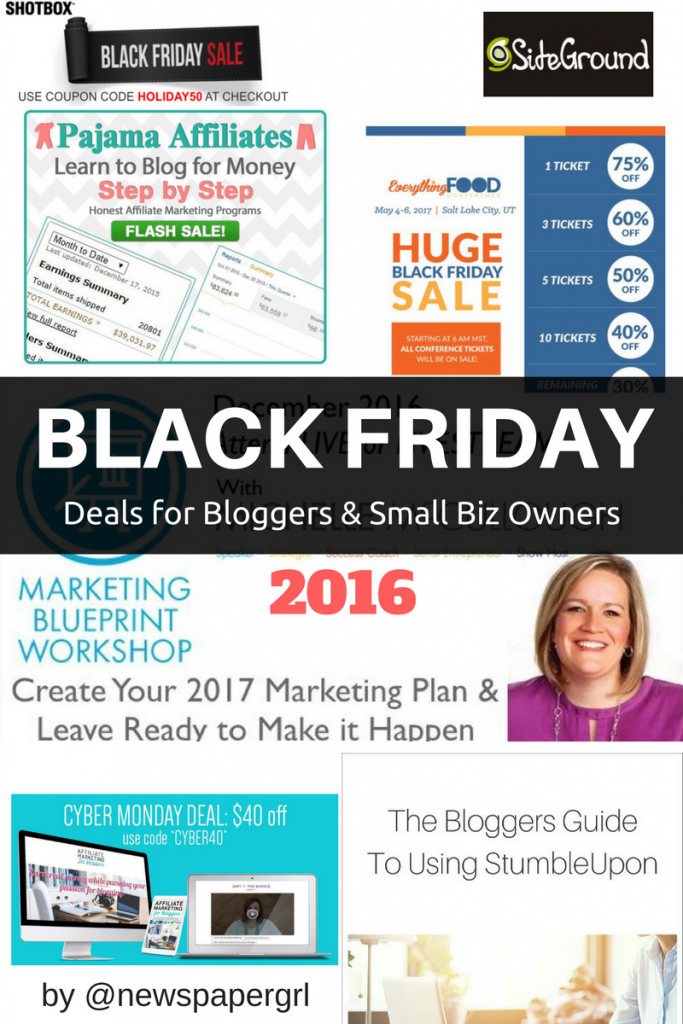 Big List of 2016 Black Friday Deals for Bloggers You Don't Want to Miss!