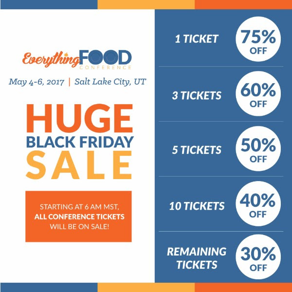 Everything Food Conference Black Friday deal