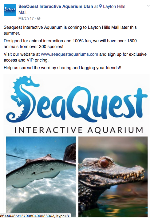 Seaquest coupon code
