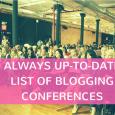 List of Blog Conferences 2017