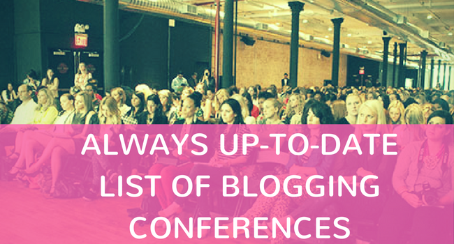 List of Blog Conferences 2017