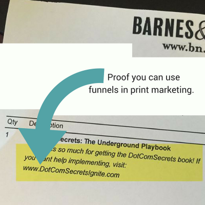 using funnels in print marketing